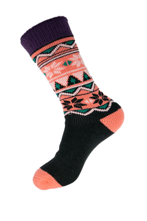 Knee High Thermal Insulated Socks - Pink and Black