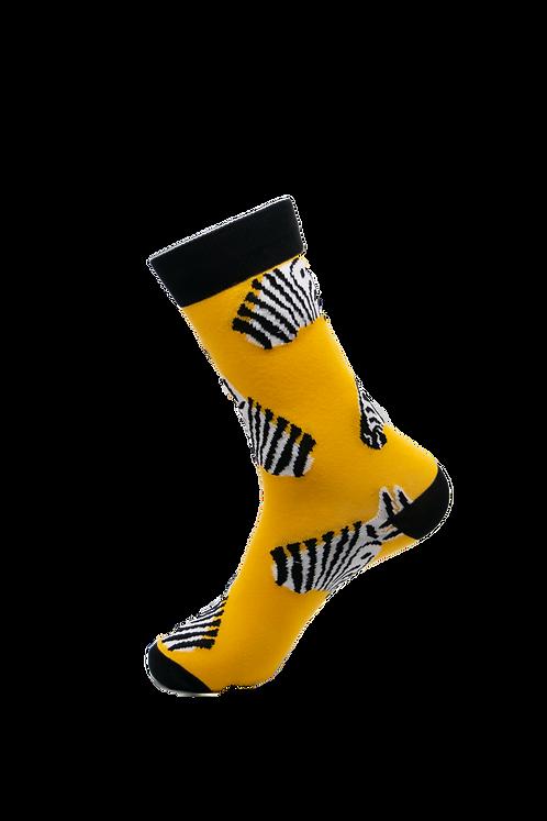 Adults - Zebra Dazzle Patterned Cotton Socks