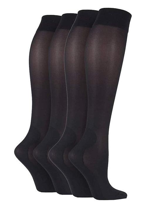 2 Pairs Ladies Knee High Compression Socks