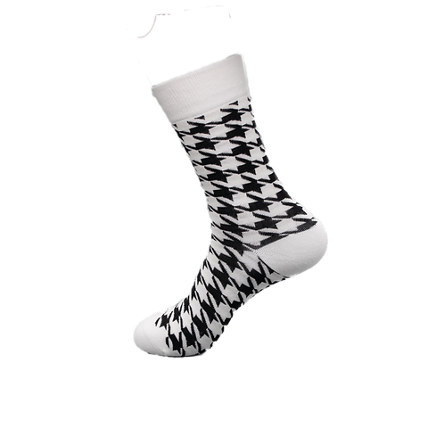 Adults - Houndstooth Patterned Luxury Cotton Socks