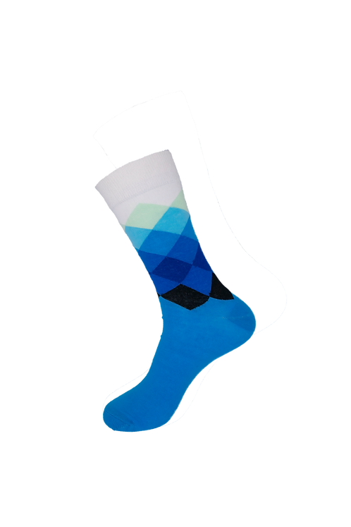 Adults - Faded Diamond Cotton Socks