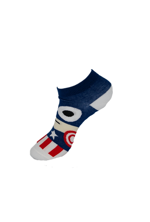 Adults Superhero - Captain America Ankle Socks