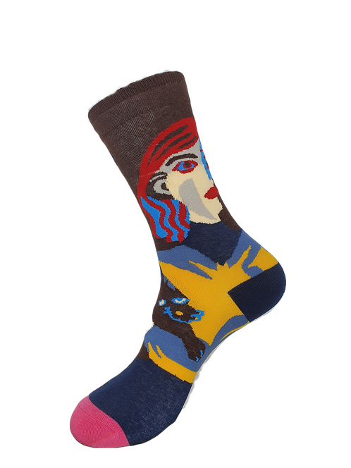 Adult - Abstract Face Art Socks