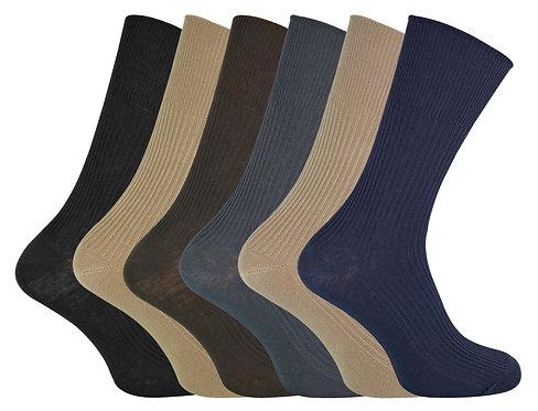 6 Pairs Mens Ladies Non Elastic 80% Cotton Socks