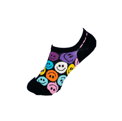 Adults-Smiley Faces Low Cut Socks.