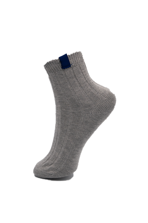 Adults-Thunder Grey Cotton Rich Ankle Socks.