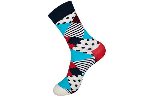 Adults - Funky Patterned Cotton Crew Socks