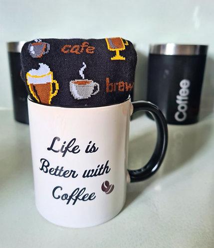 Coffee Mug and Socks Gift Set