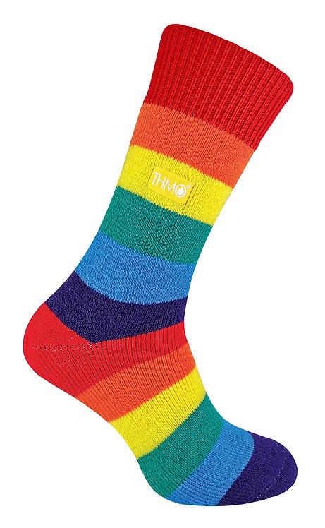 1 Pair Mens / Ladies Rainbow Thermal Socks