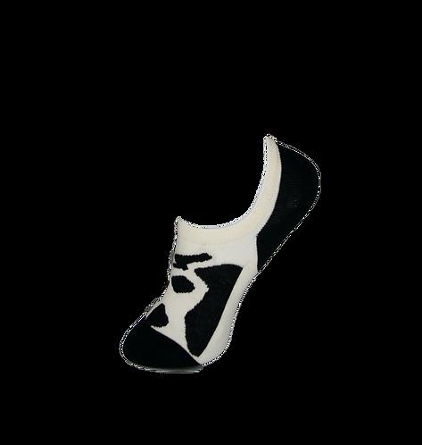 Adults-Cow Hide Low Cut Socks.
