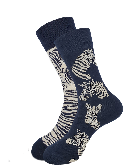 Adult -  Ziggy Zebra Odd Socks