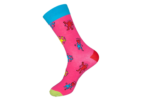 Adults - Pink Happy People Socks