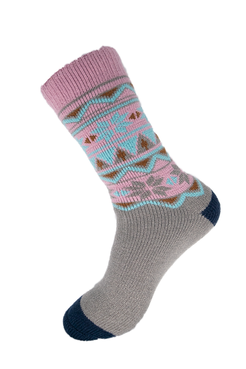 Thermal Insulated Socks - Pink and Grey