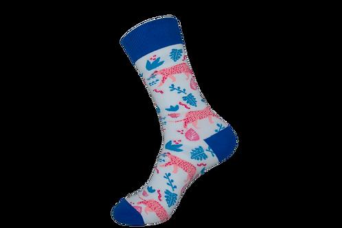 Adults - Pink Leopard Socks