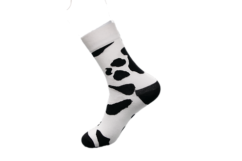 Adults - Cowhide Patterned Luxury Cotton Socks