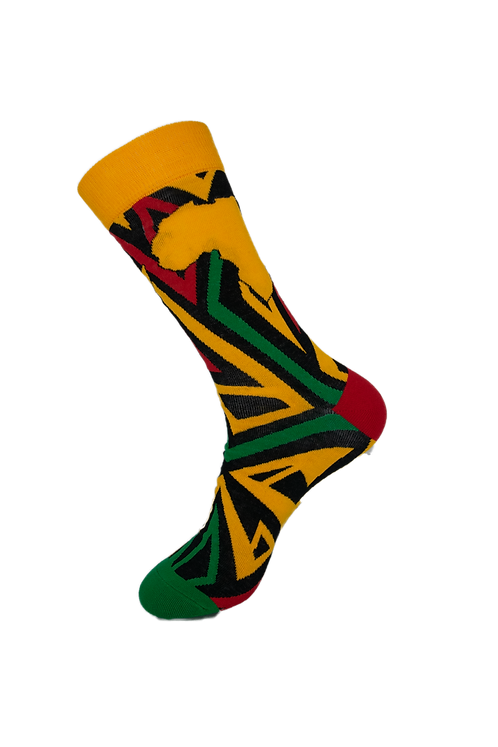 Adults-African Continent Cotton Rich Socks