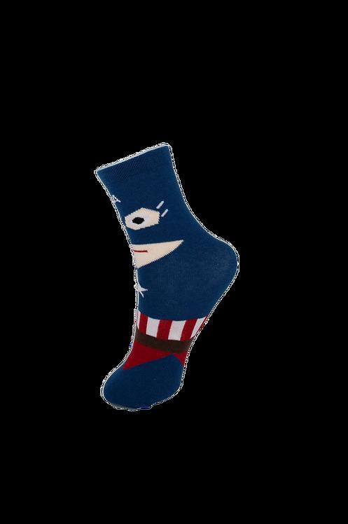 Children's Superhero - Captain America Socks