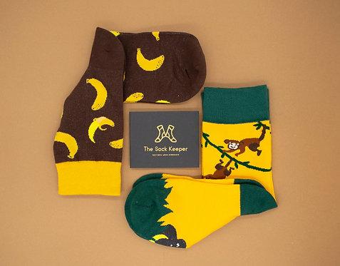 Adult-Food Lover Banana Odd Socks