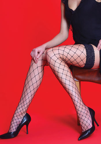 SILKY Whale Net Lace Hold Ups