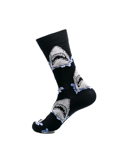 Adults-Great White Shark Cotton Socks