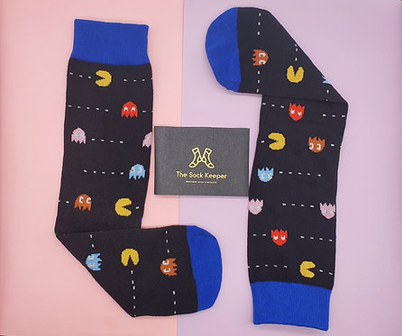 Adult - Pac Man Game Socks
