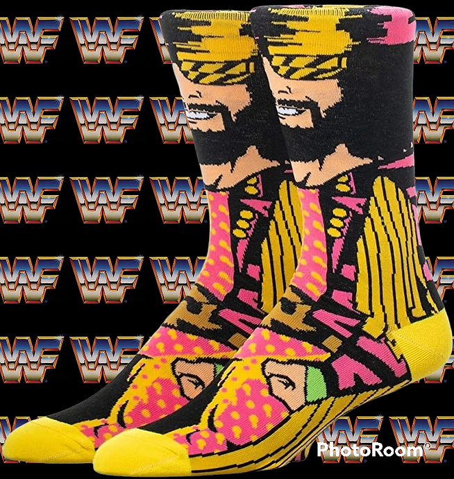 Randy savage WWF wrestling retro socks