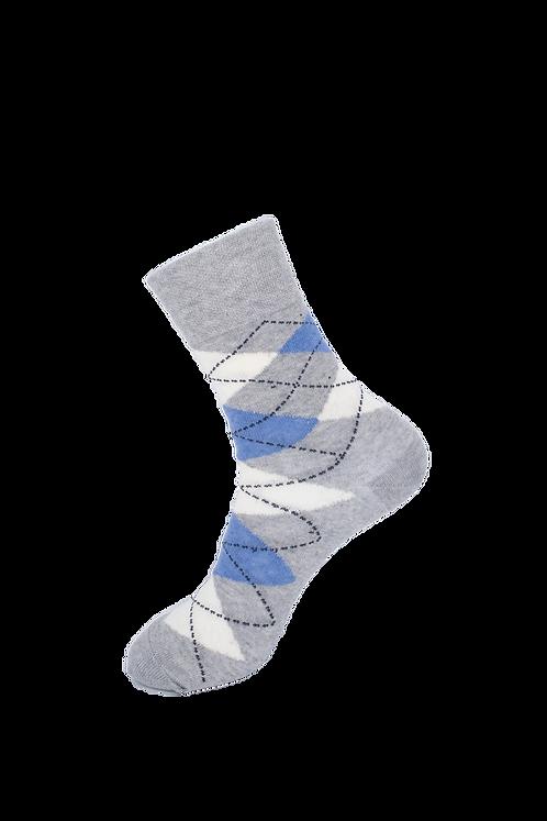 Adults -Jaquard Print Cotton Socks