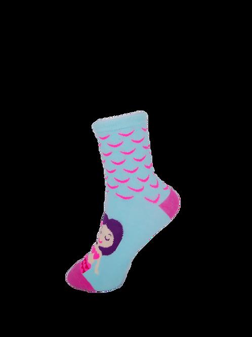 Children's Matching Mermaid Socks - Purple - Blue