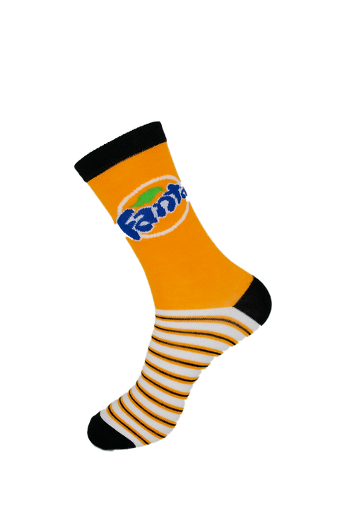 Adults - Fanta Themed Soft Bamboo Socks