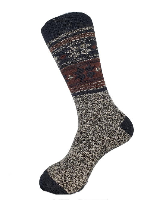 Thermal Insulated Socks -Navy/Charcoal/Brown