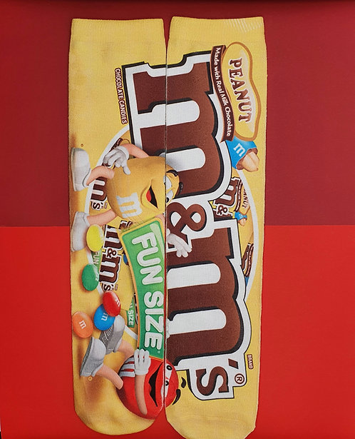 Adults Sublimated Crew Socks. M & Ms
