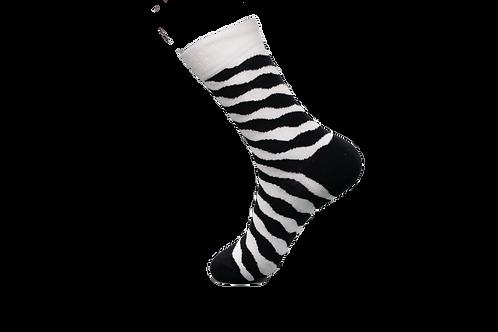 Adults -Diagonal Striped Pattern Luxury Cotton Socks