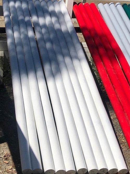 12' Round Jump Rails - White