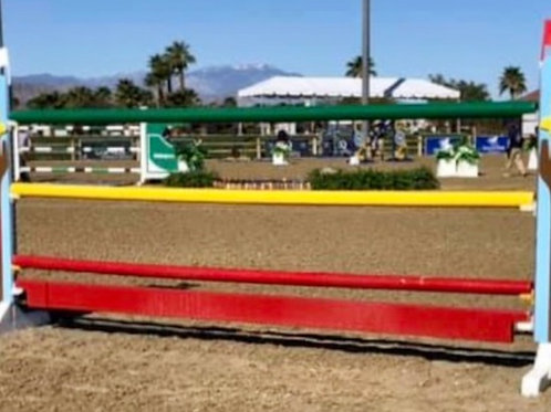 10' Round Jump Rails - Solid Color
