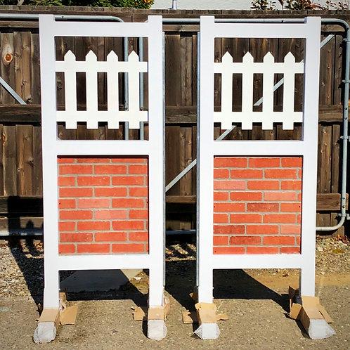 Aluminum Brick & Picket Standards