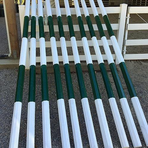 10' Octagonal Jump Poles - Stripes