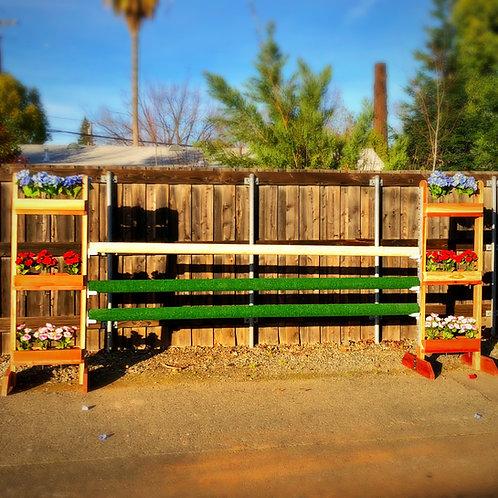 Wooden 3-Tier Flower Box Standards