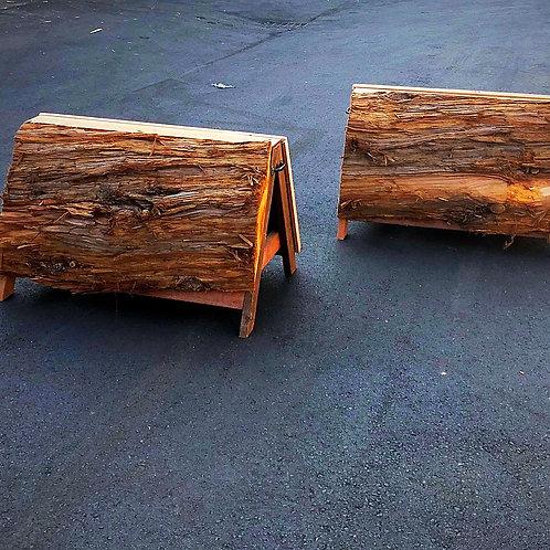 A-Frame Natural Log Coop