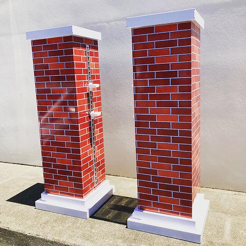 Aluminum Brick Pilliars