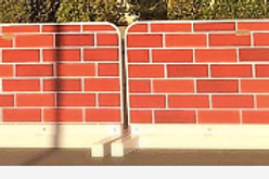 Brick or Stone Wall w/ Aluminum Stand