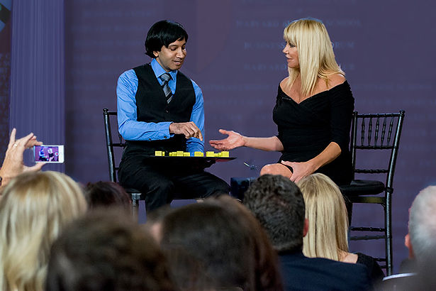 Dr Vijay Ram and Suzanne Somers