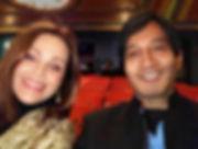 Dr Vijay Ram and Belinda Carlisle