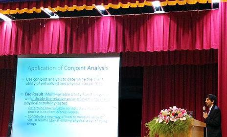 Dr Vijay Ram Speaking at Asia Unversity