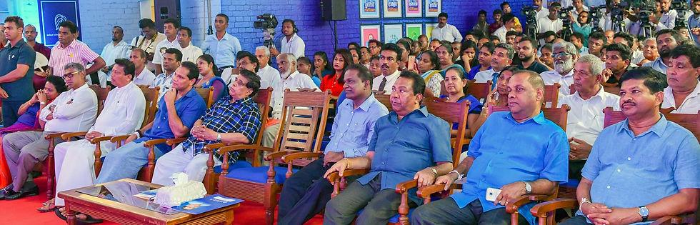 Thilanga Sumathipala at his political office with SB, D. Jayasinghe and N. Siripala De Silva