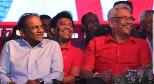 Thilanga Sumathipala and Gotabaya Rajapaksa