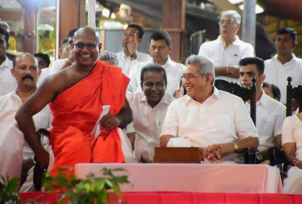 Def. Sect. Kamal Gunaratne, Ven. Assaji Thera, Hon. Thilanga Sumathipala & Pres. Gotabaya Rajapaksa