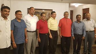 Mr Lehan Edirisinghe, Chairman of Cyberspace with President Gotabaya Rajapaksa and Honourable Thilanga Suamthipala at Mr Sumathipala's ancestral residence in Punchi Borella Colombo 10