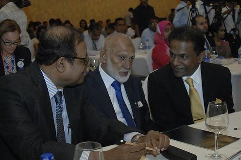 Susil Premajayantha, Mohamed Fowzie and Thilanga Sumathipala