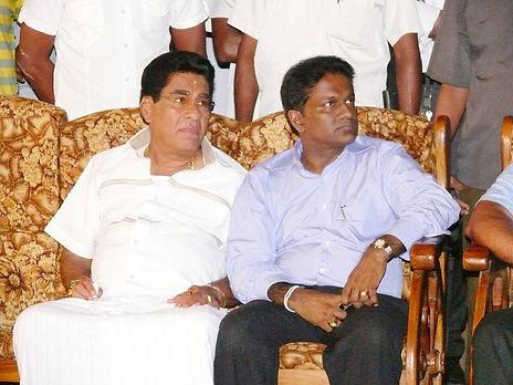 Mervyn Silva and Thilanga Sumathipala