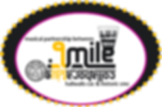 Point9Mile logo yellow plum oval dotted